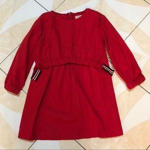 Zara girls red dress